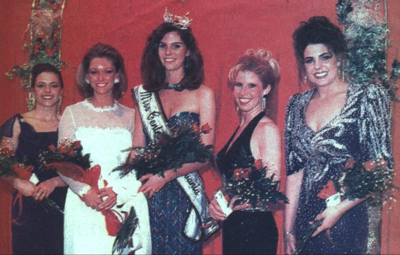 Miss Central Pennsylvania 1996 and her Court